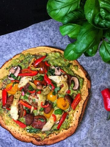 avocado pesto pizza