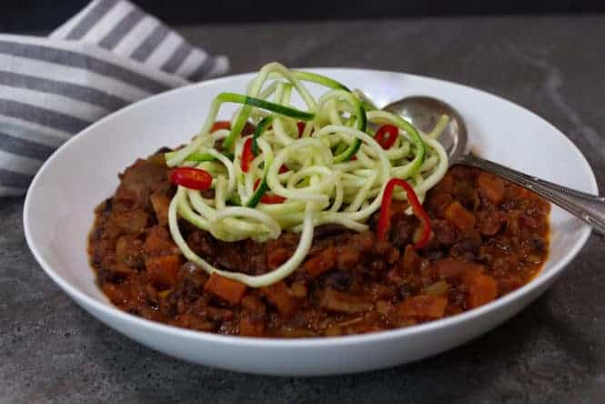 black bean & lentil bolognese