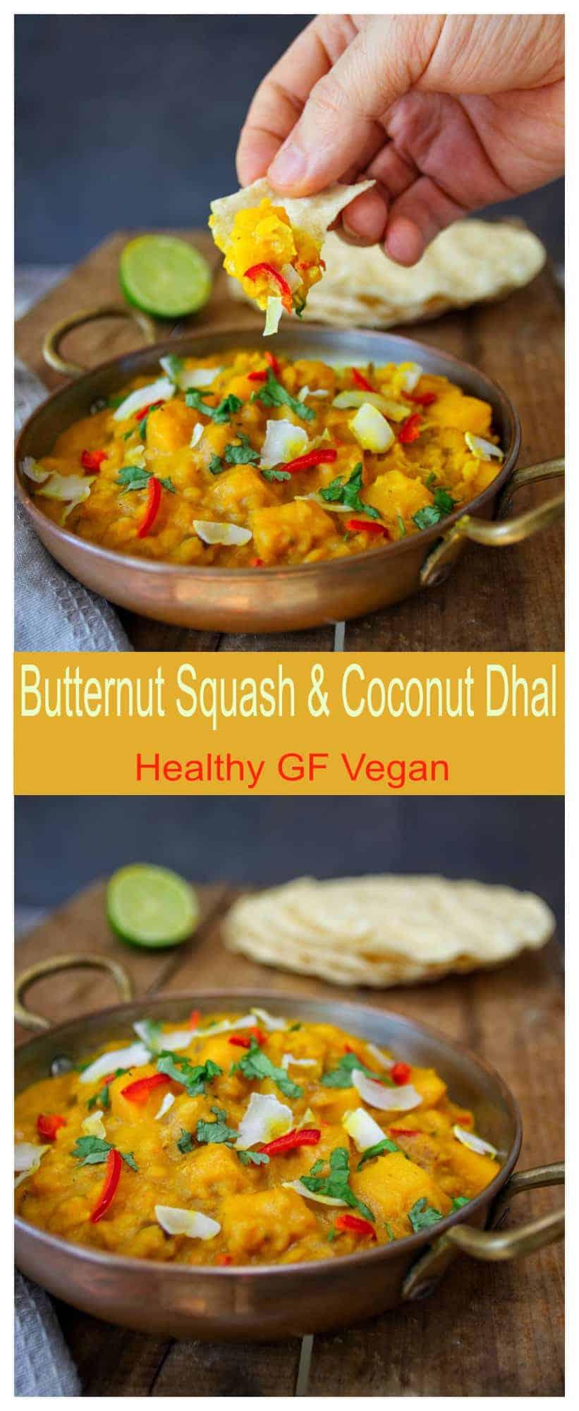 Butternut Squash & Coconut Dhal