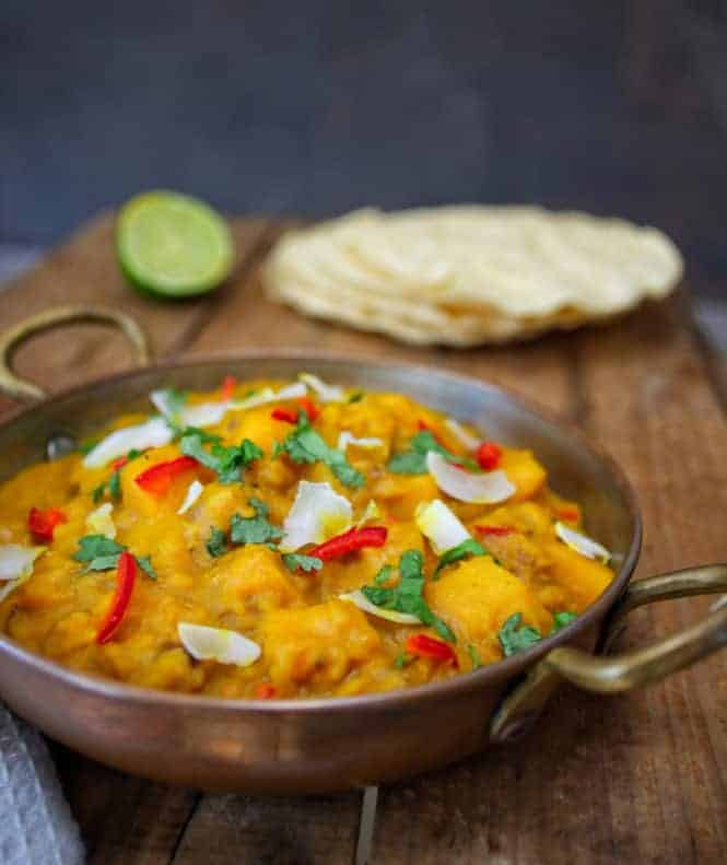 butternut squash & coconut dhal