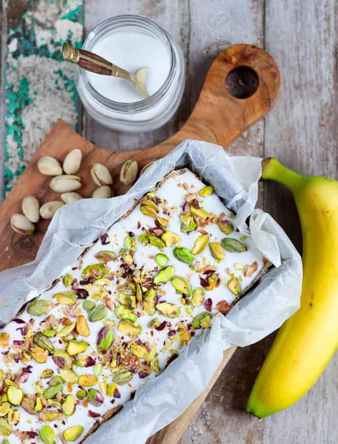 banana loaf top