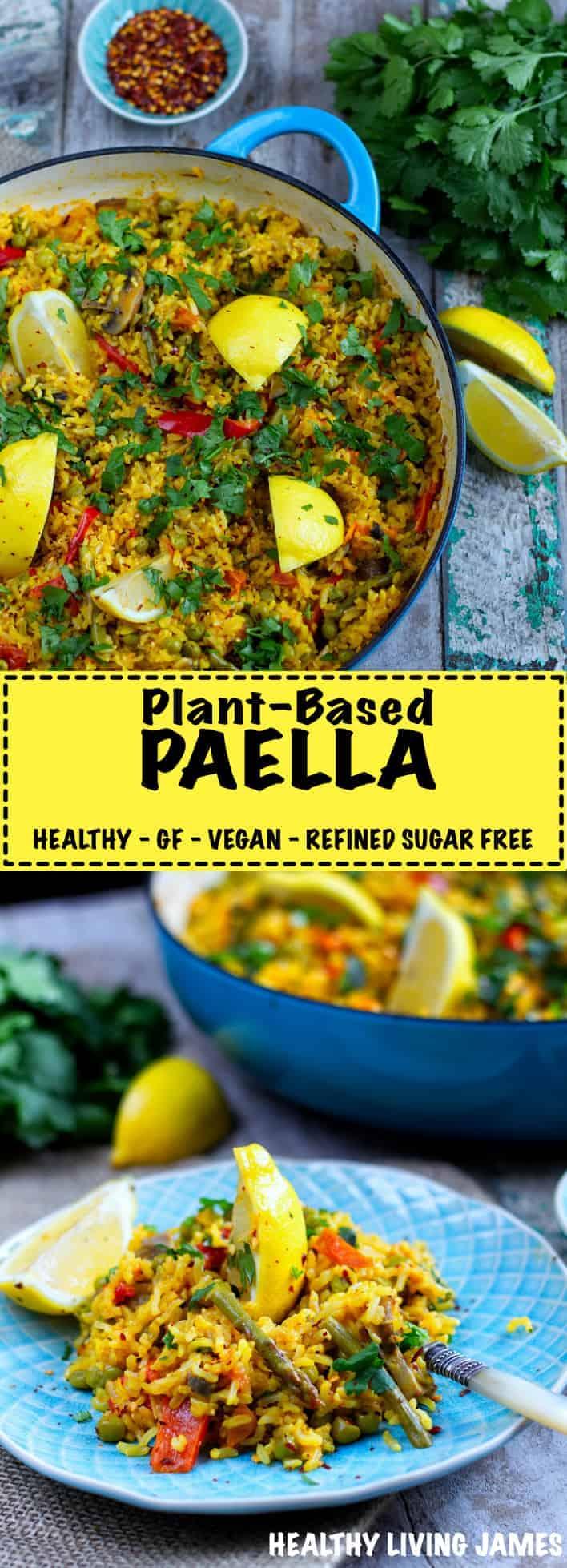 Plant-Based Paella Pinterest