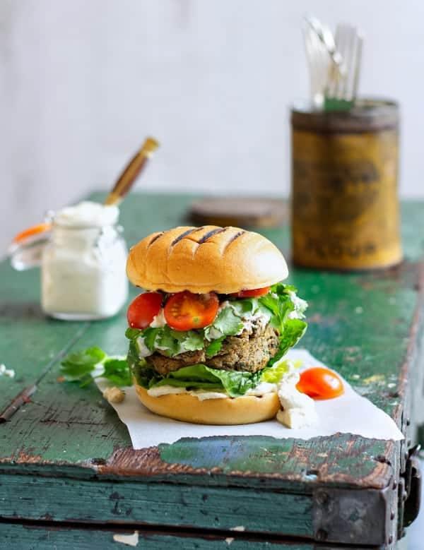 Mushroom & Coriander Burgers