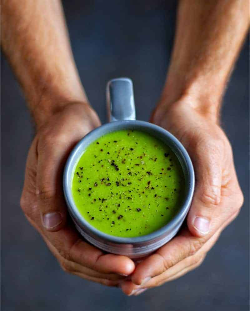 Pea & Ginger Soup Top