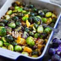 roasted sprouts front