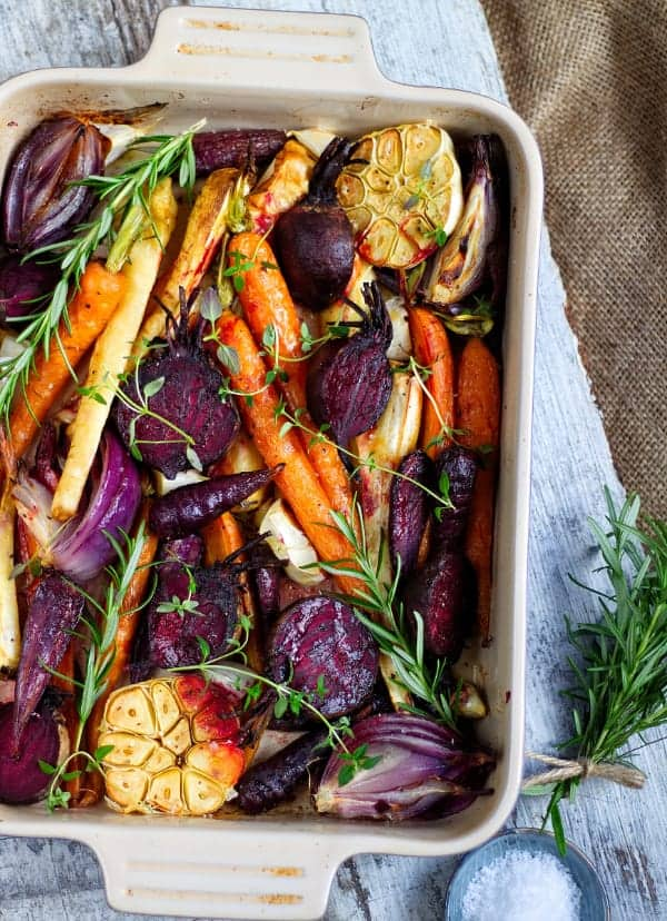 Roasted Root Veg top view