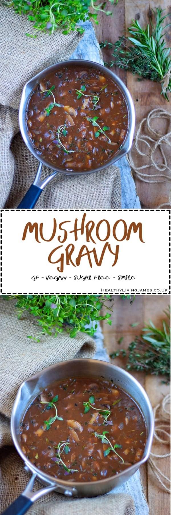 Mushroom Gravy pinterest