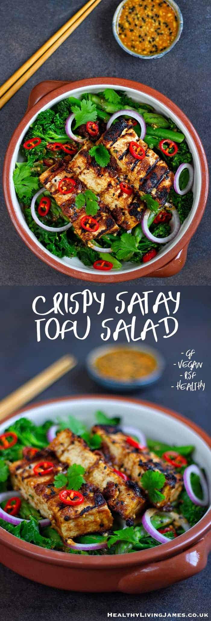 Crispy Satay Tofu Salad