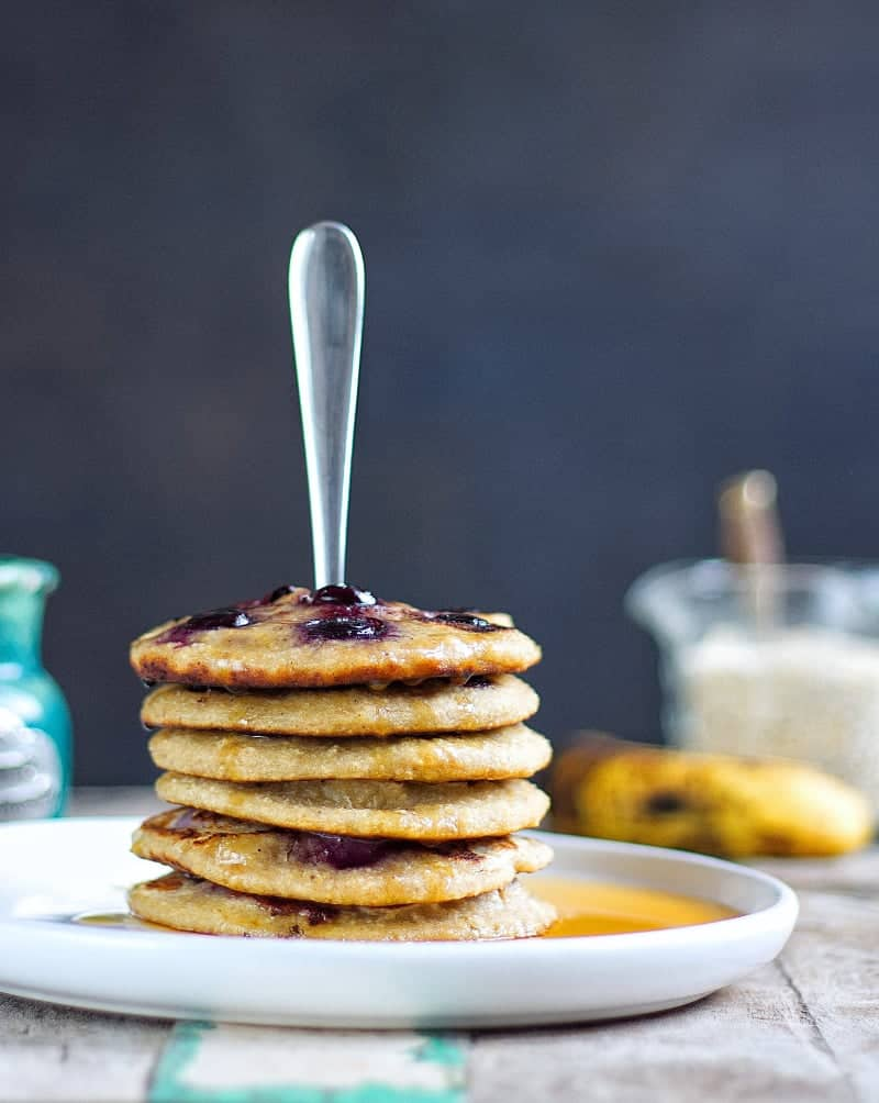 Fork in pancakes