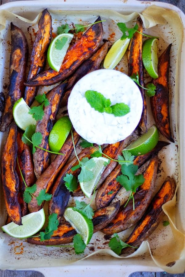 Smokey Sweet Potato Wedges