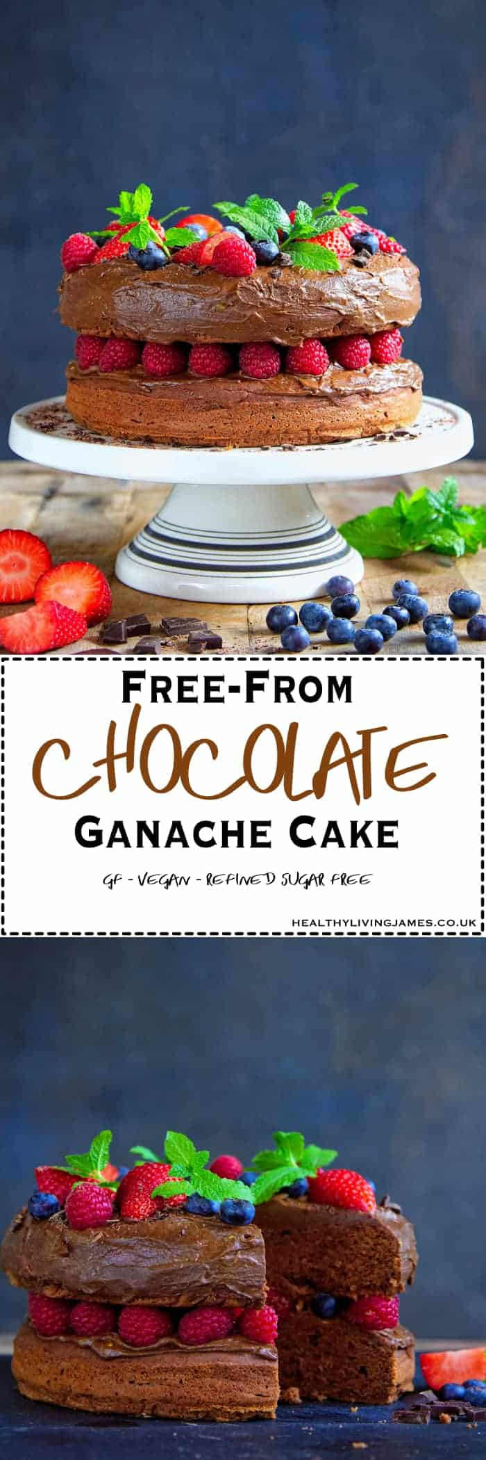 Free From Chocolate Ganache Cake