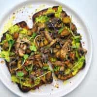 mighty mushrooms on toast top