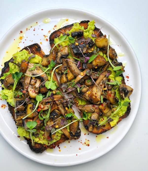 mighty mushrooms on toast top