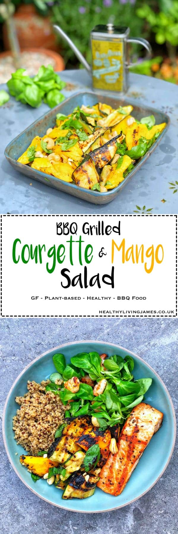 BBQ Grilled Courgette & Mango Salad