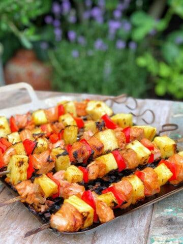 Summer Salmon Kebabs