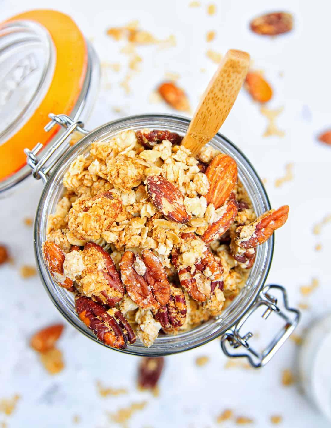 Crunchy Peanut Butter Granola Kilner Top