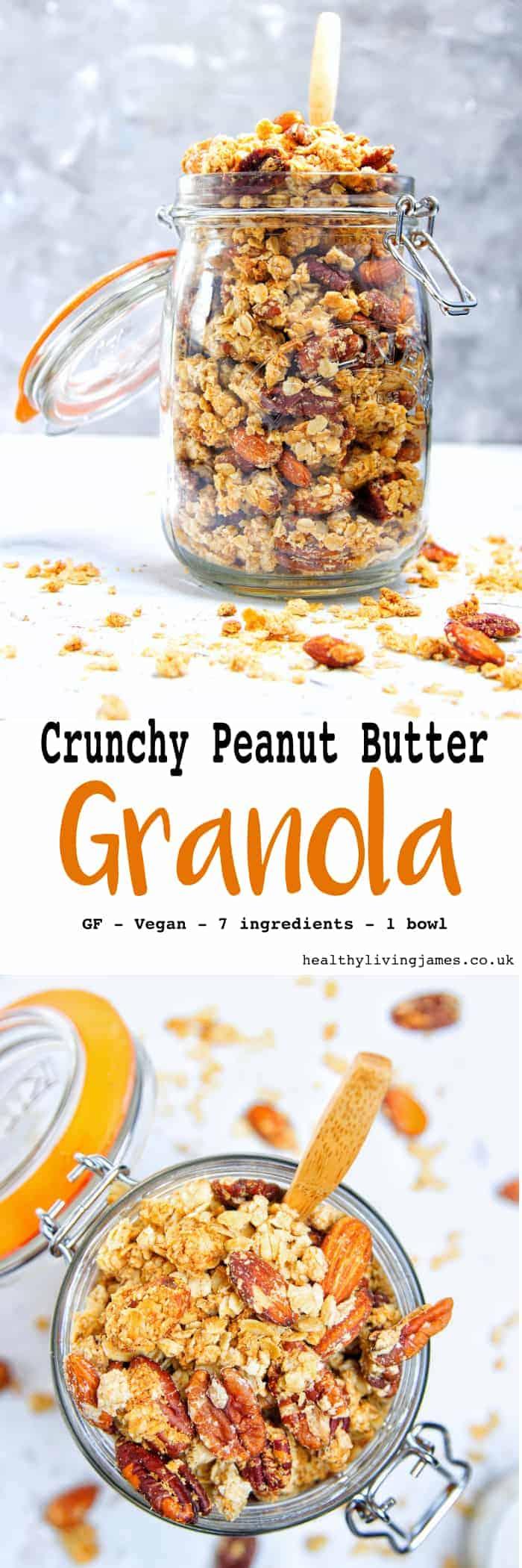 Crunchy Peanut Butter Granola Pinterest