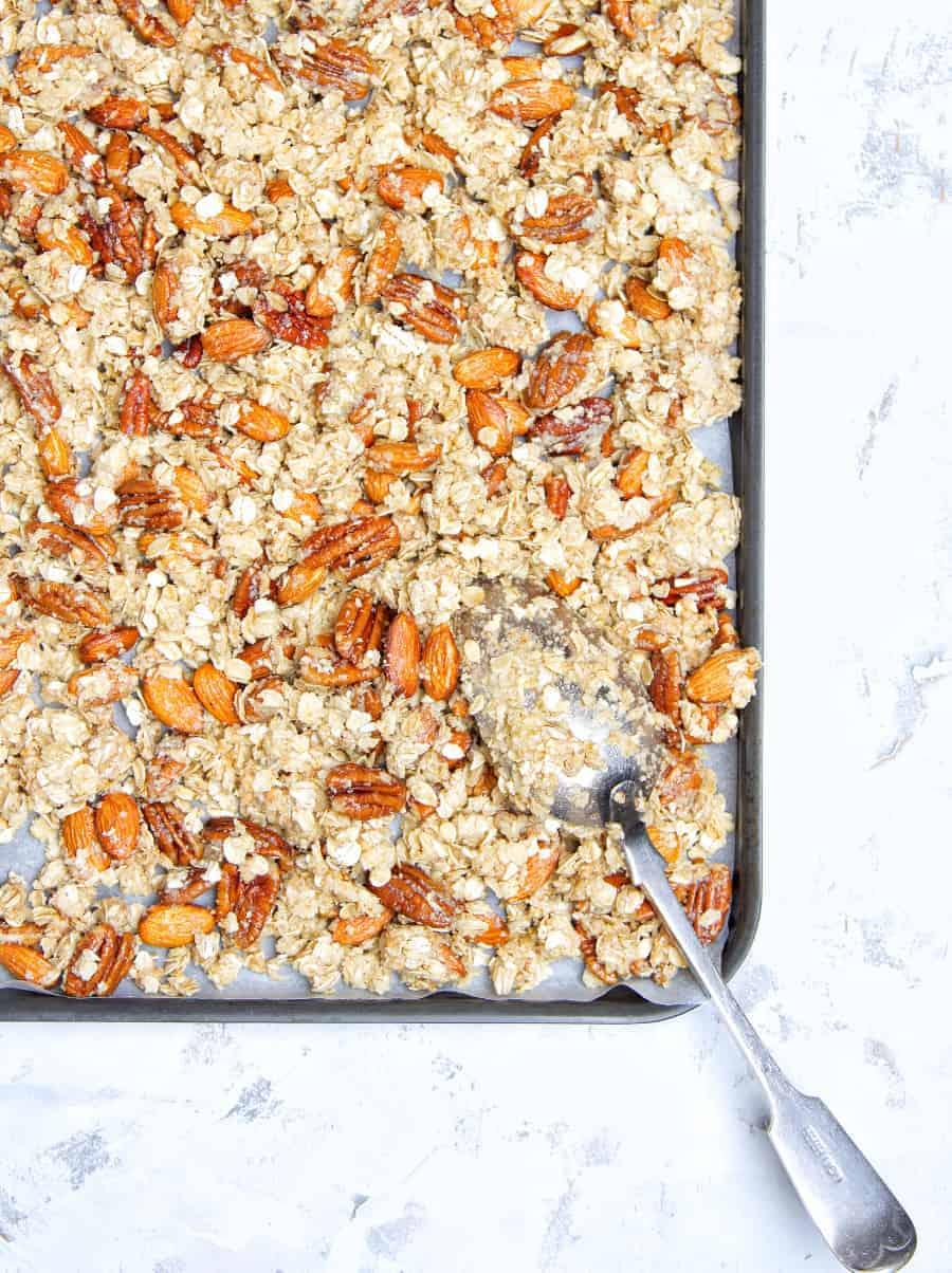 Crunchy Peanut Butter Granola Tray