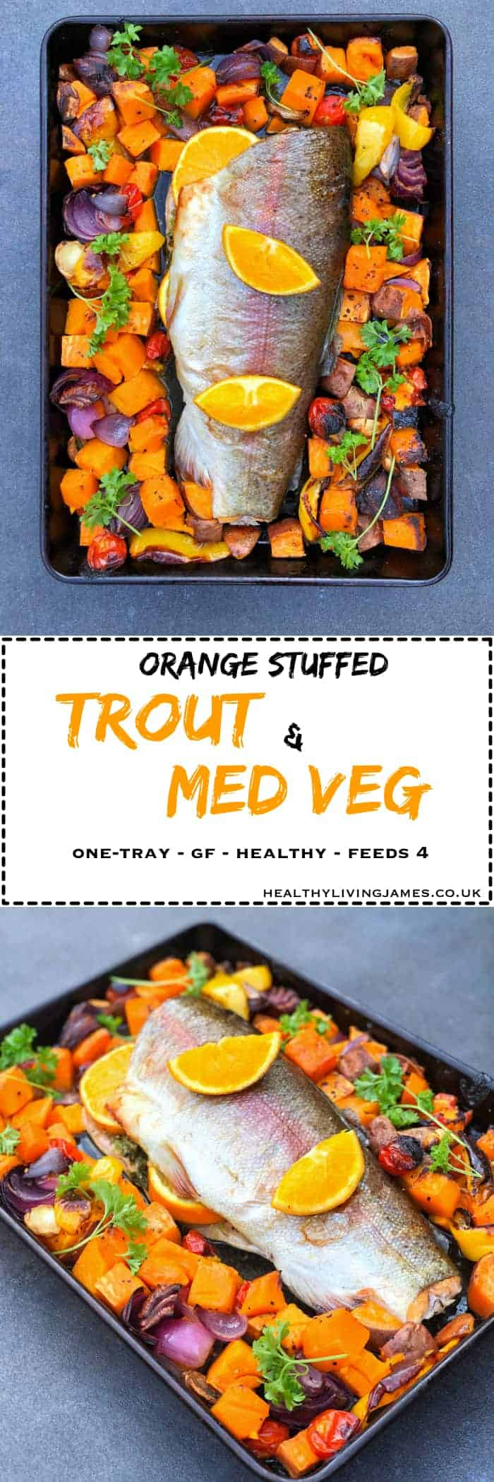 Orange Stuffed Trout & Med Veg Pinterest