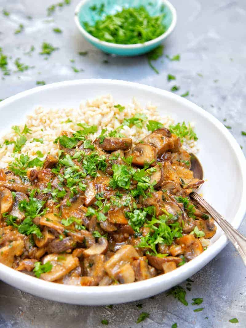 One Pot Vegan Mushroom Stroganoff Close Up Small