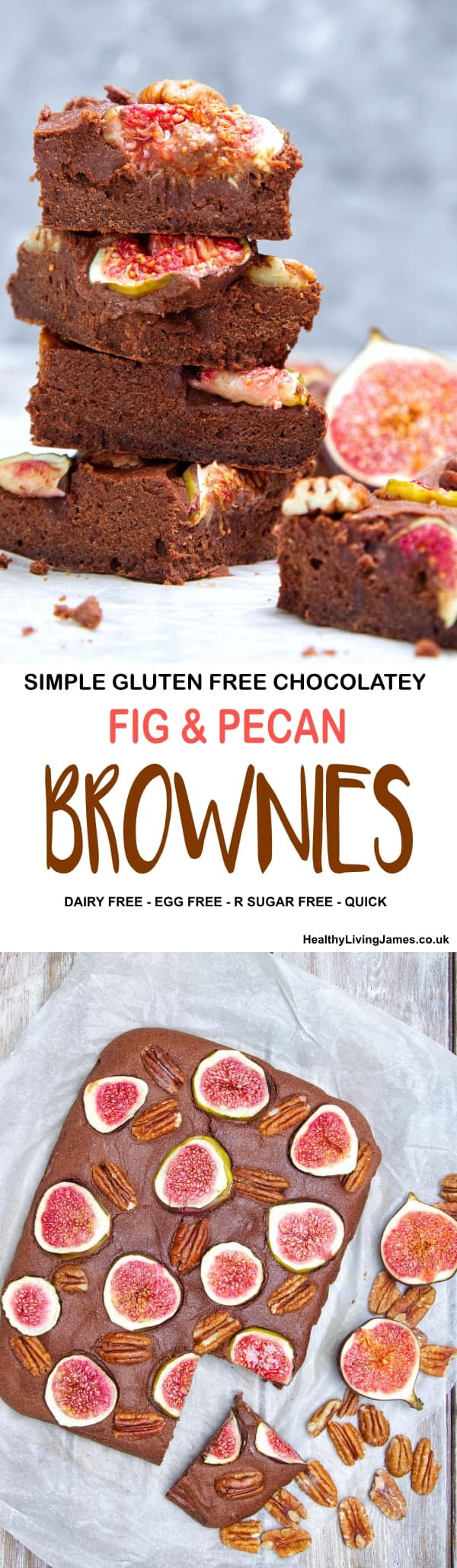 Fig & Pecan Brownies Pinterest
