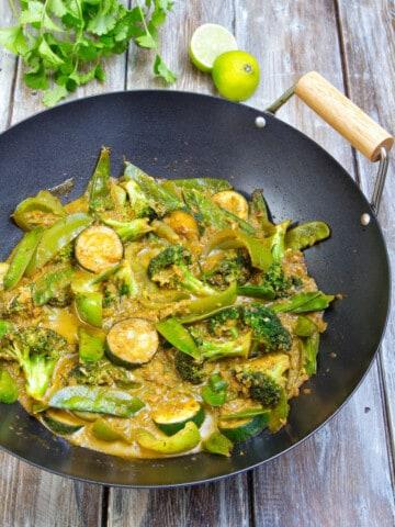 Veggie Thai Green Curry Wok