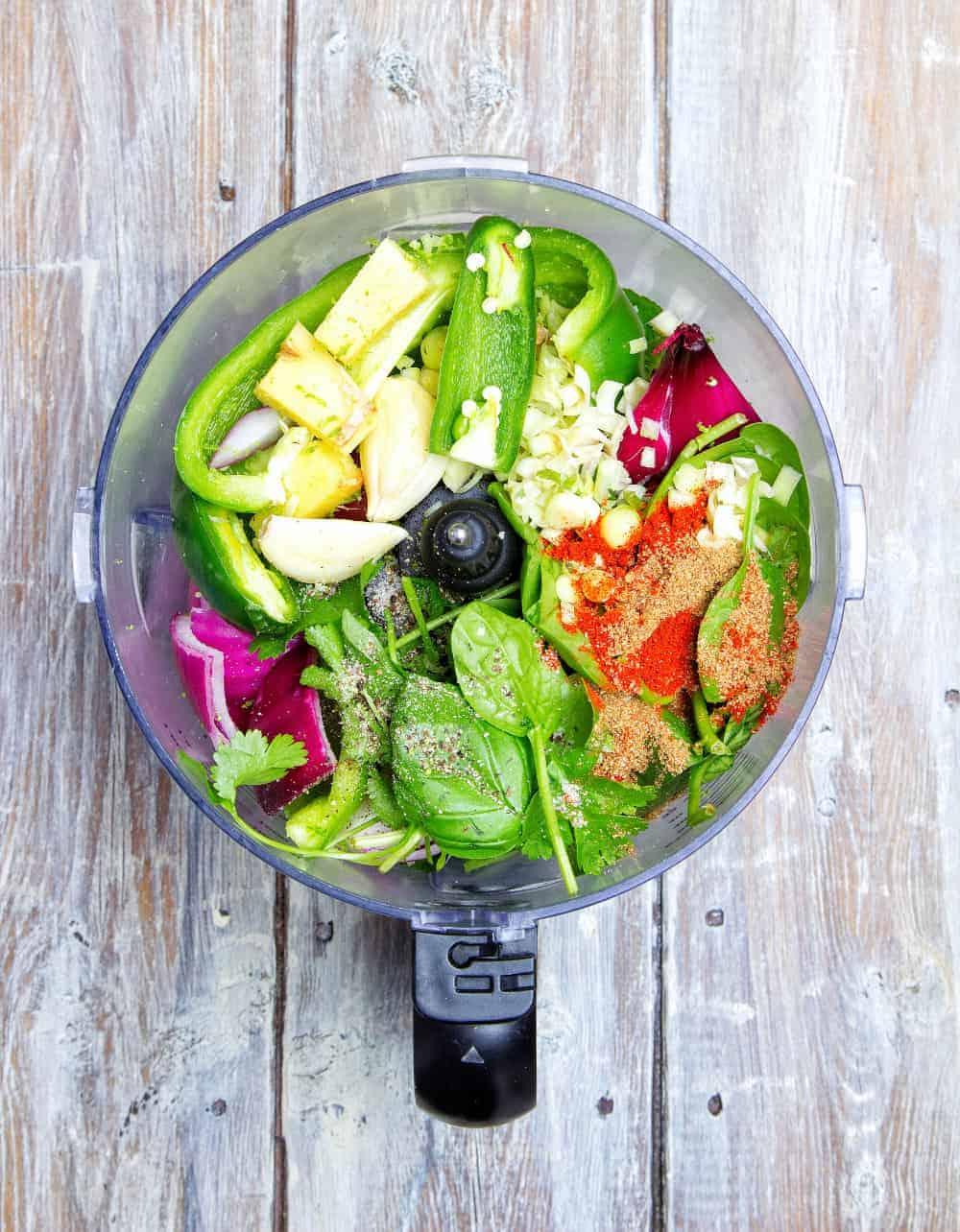 Veggie Thai Green Curry Blender