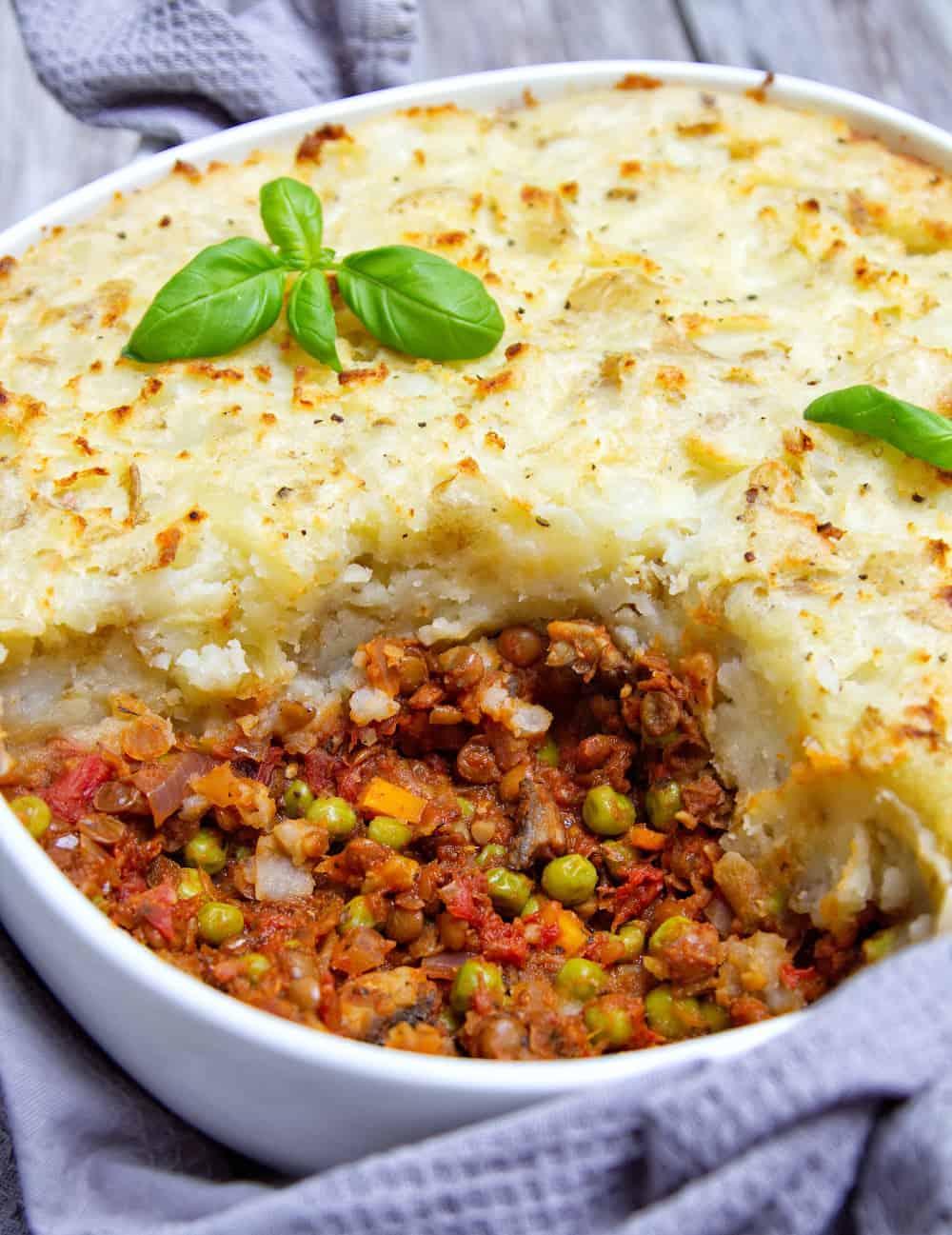 Lentil Shepherds Pie close