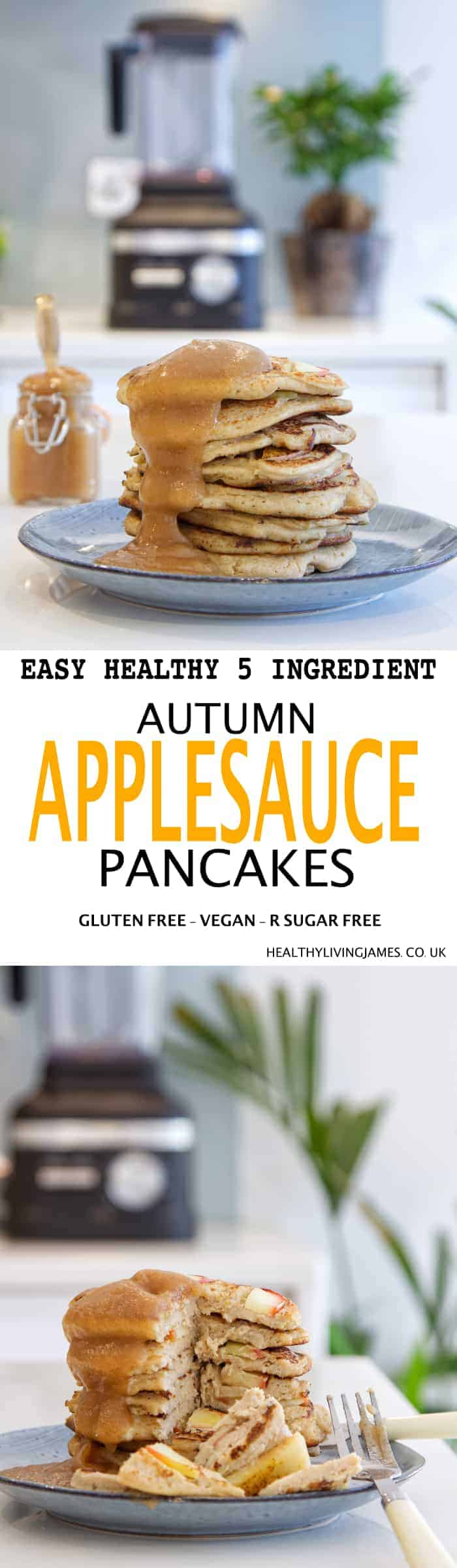 Autumn AppleSauce Pancakes Pin