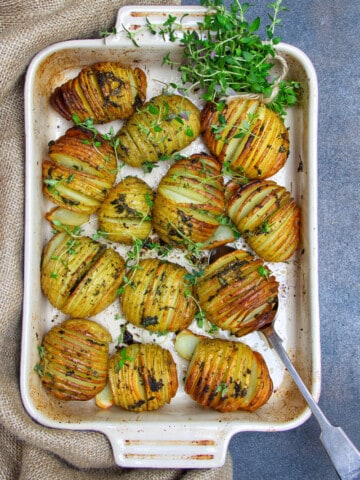 Thyme Infused Hasselback Potatoes Tray