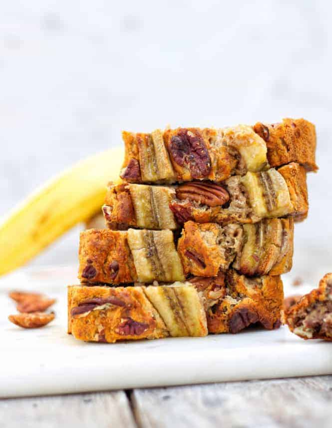 The Best Free-From Banana Bread Stacked