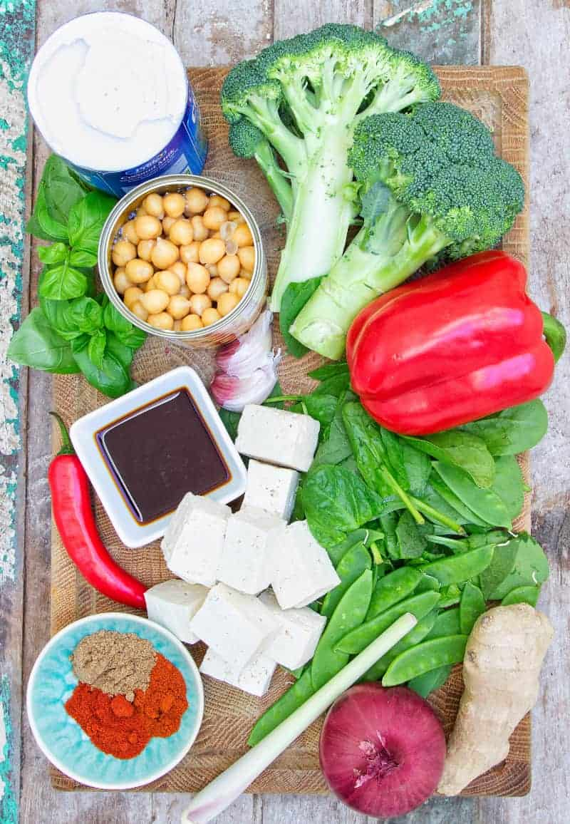 Thai Tofu Curry ingredients