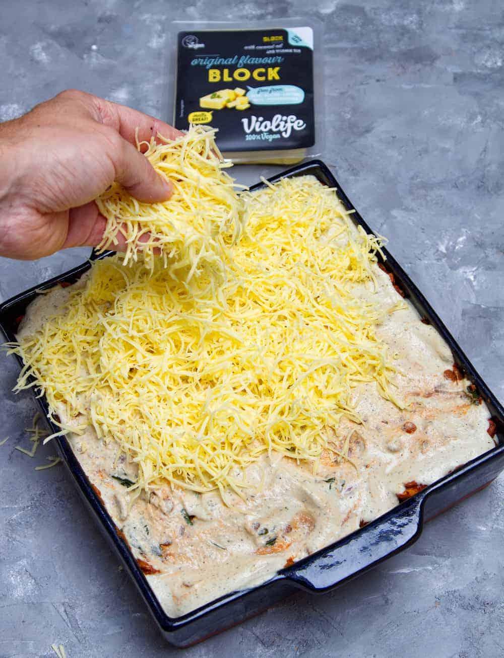 Ultimate Vegan Moussaka Cheese
