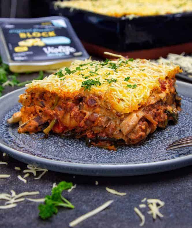 Ultimate Vegan Moussaka Front close brand