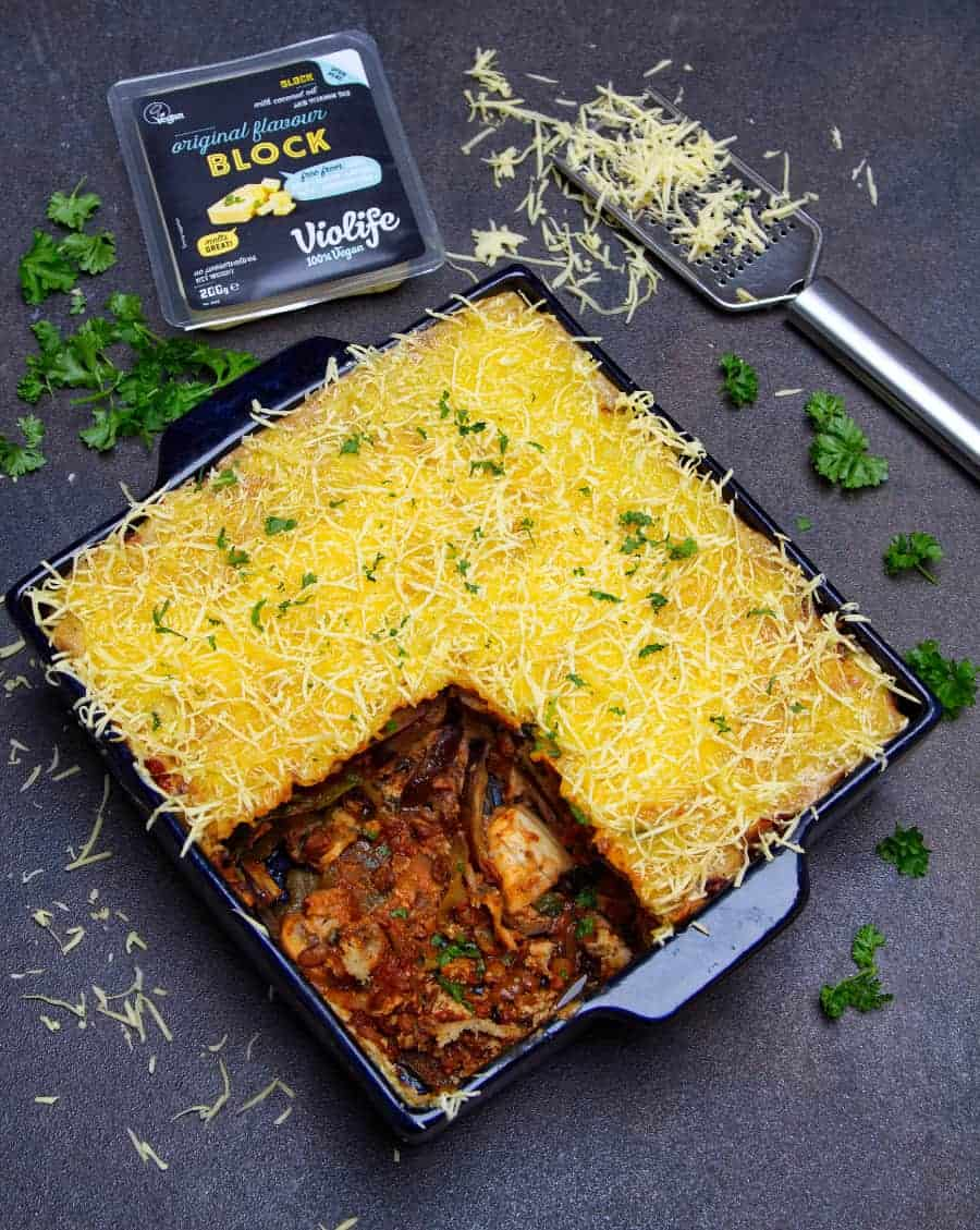 Ultimate Vegan Moussaka top dish