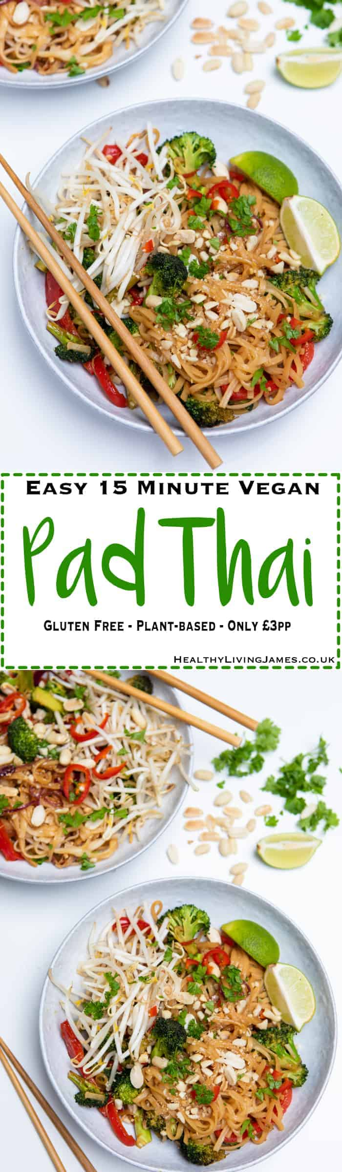 15 Minute Vegan Pad Thai Pinterest