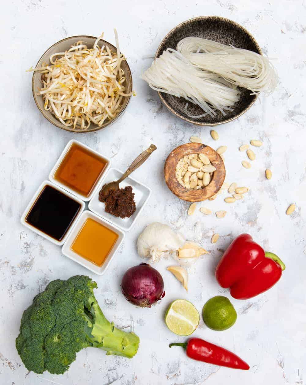 Vegan Pad Thai Ingredients