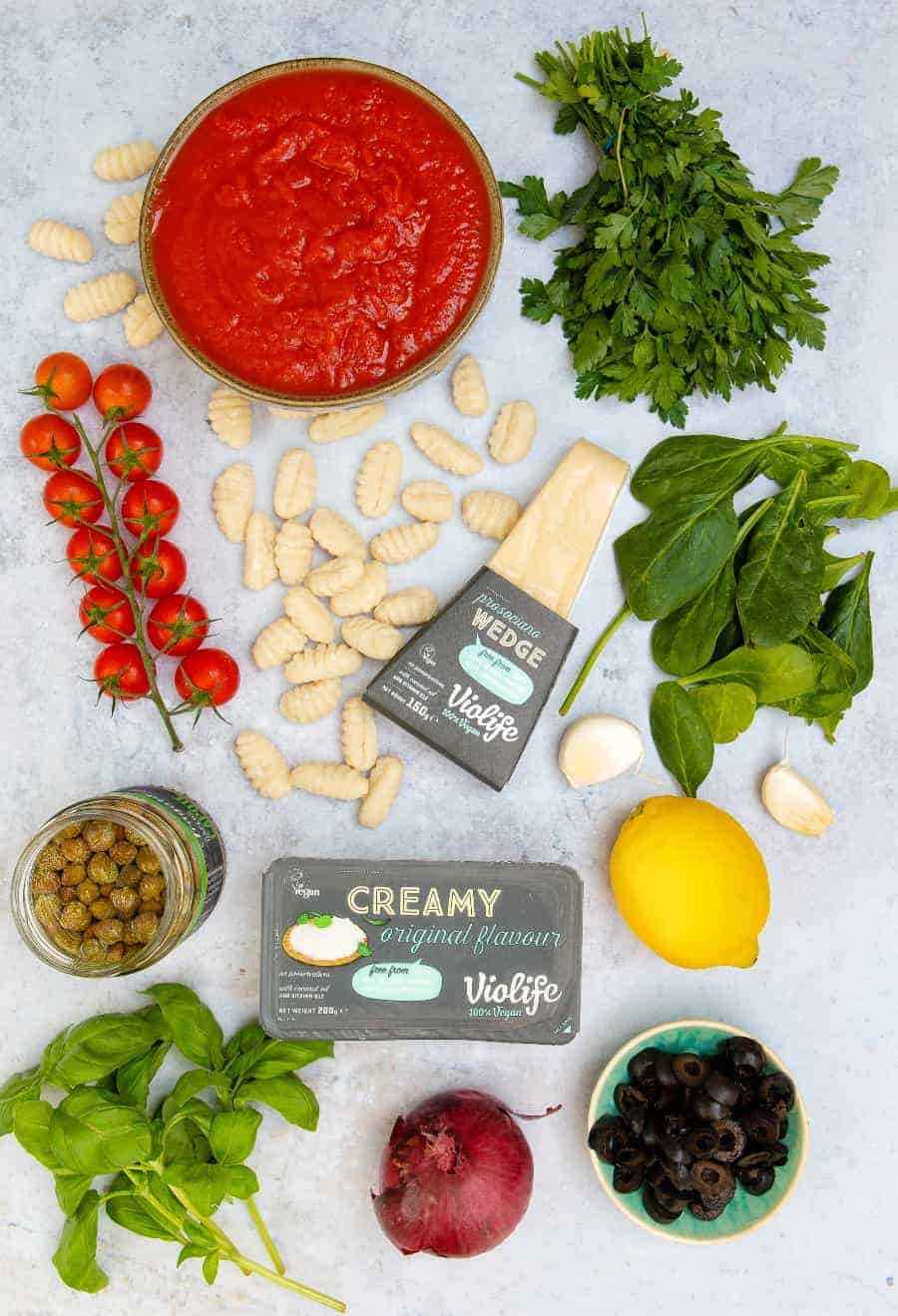 Cheesy Vegan Gnocchi Bake - Ingredients