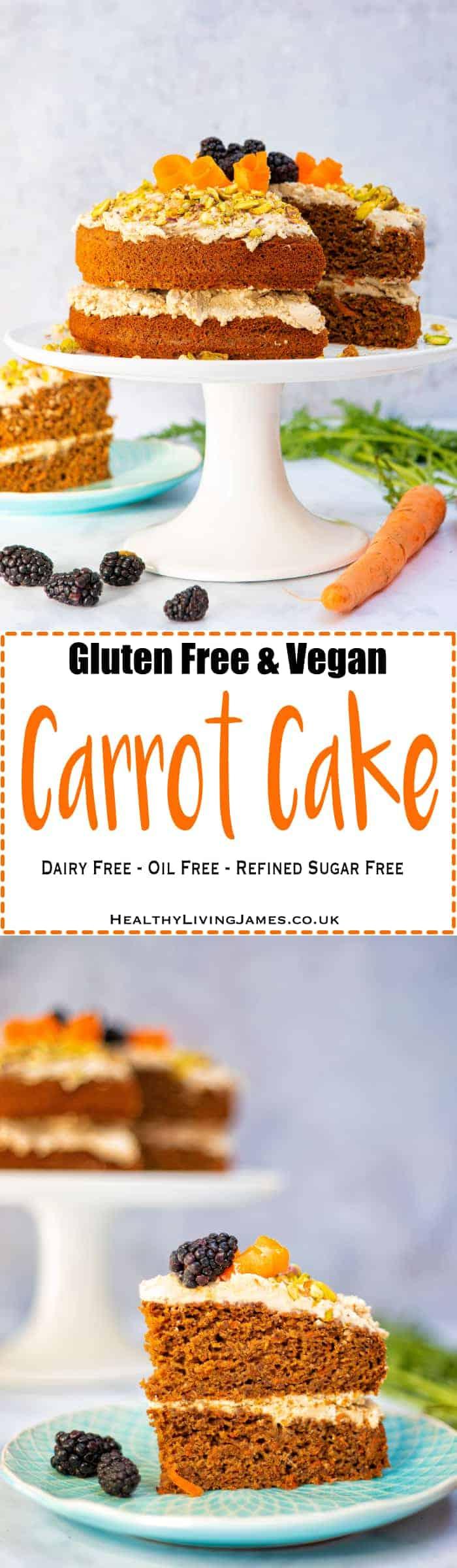 Gluten Fre & Vegan Carrot Cake