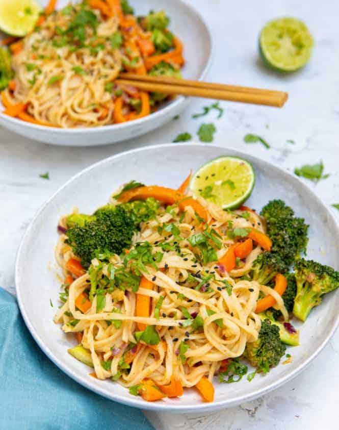 Speedy Satay Sauce Noodles - Bowl
