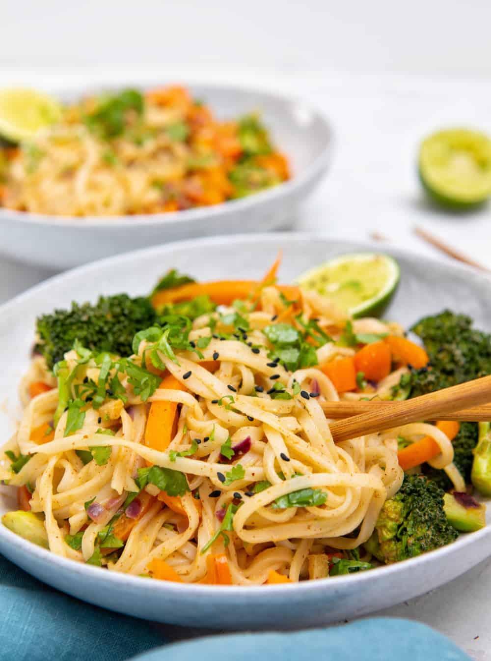 Speedy Satay Sauce Noodles - Front Closeup