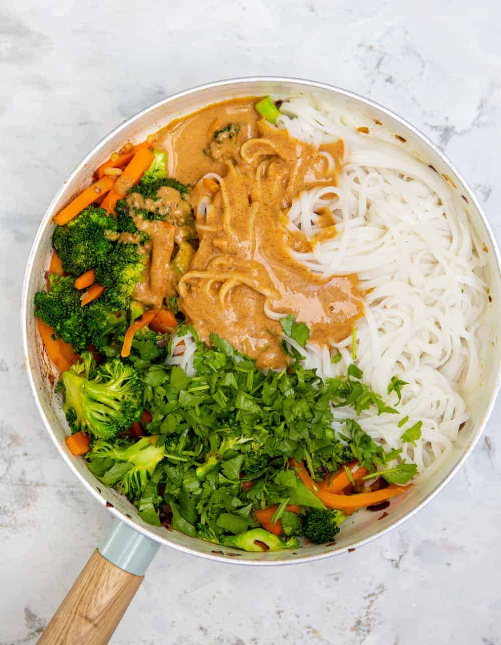 Speedy Satay Sauce Noodles - Pot