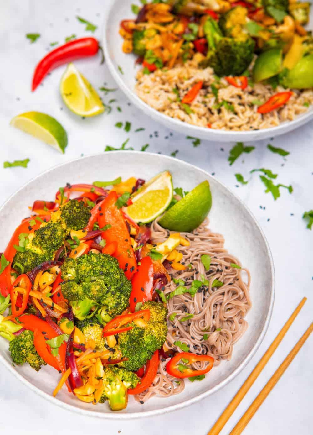 15 Minute Broccoli & Cashew Stir-Fry - front