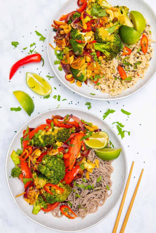 15 Minute Broccoli & Cashew Stir-Fry - top