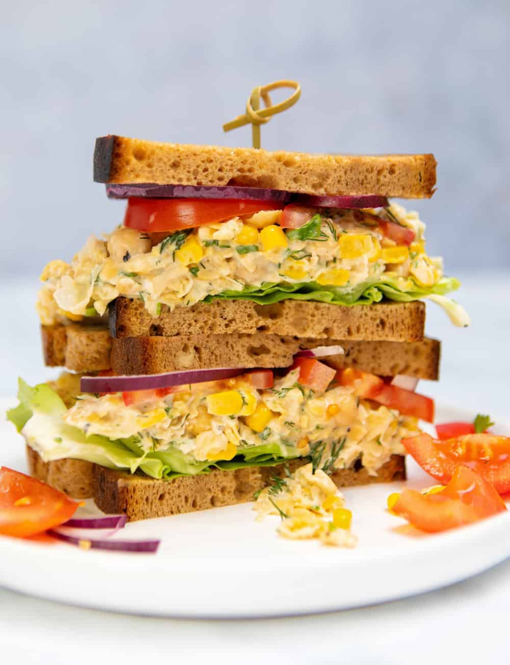 Chickpea Mayo Sandwich
