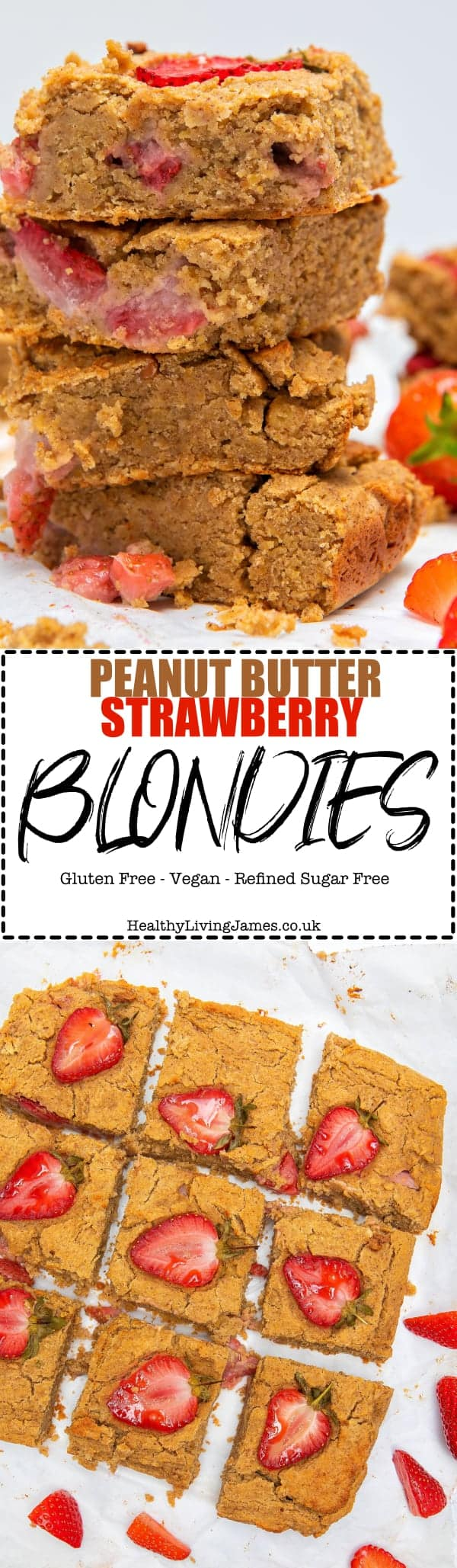 Peanut Butter Strawberry Blondies - Pinterest