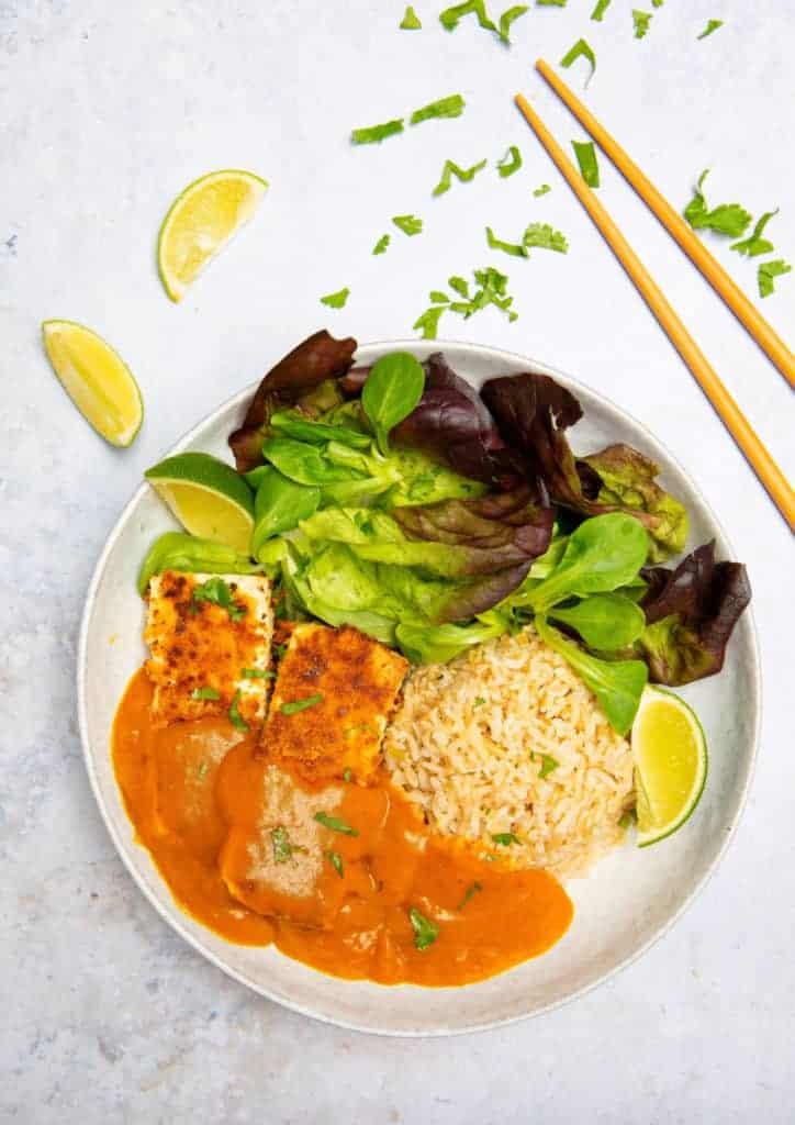 Tofu Katsu Curry (gluten free & vegan)