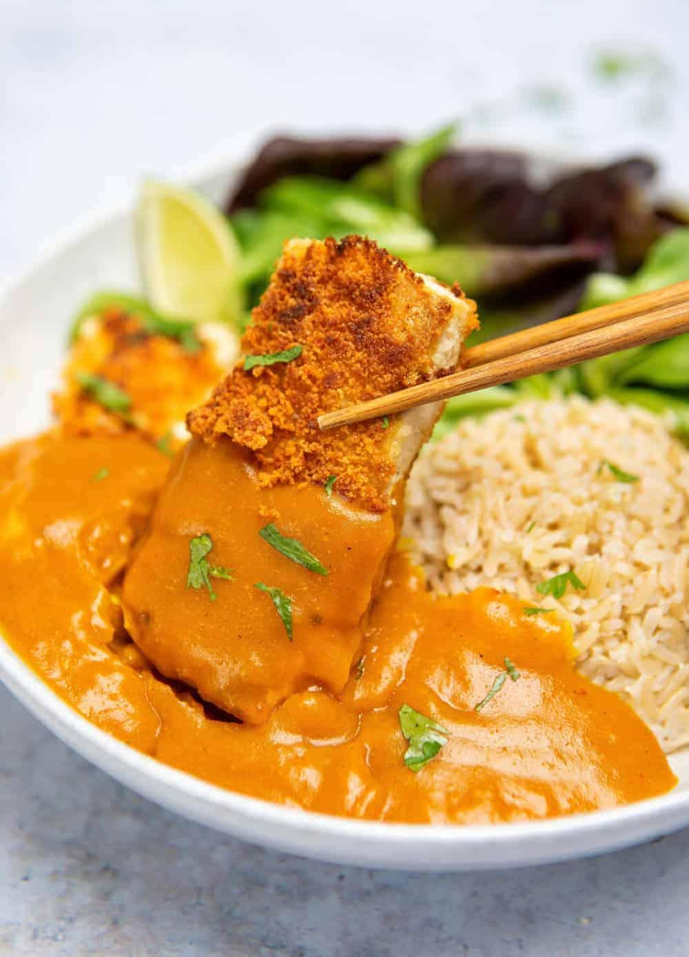 Crispy gluten free tofu