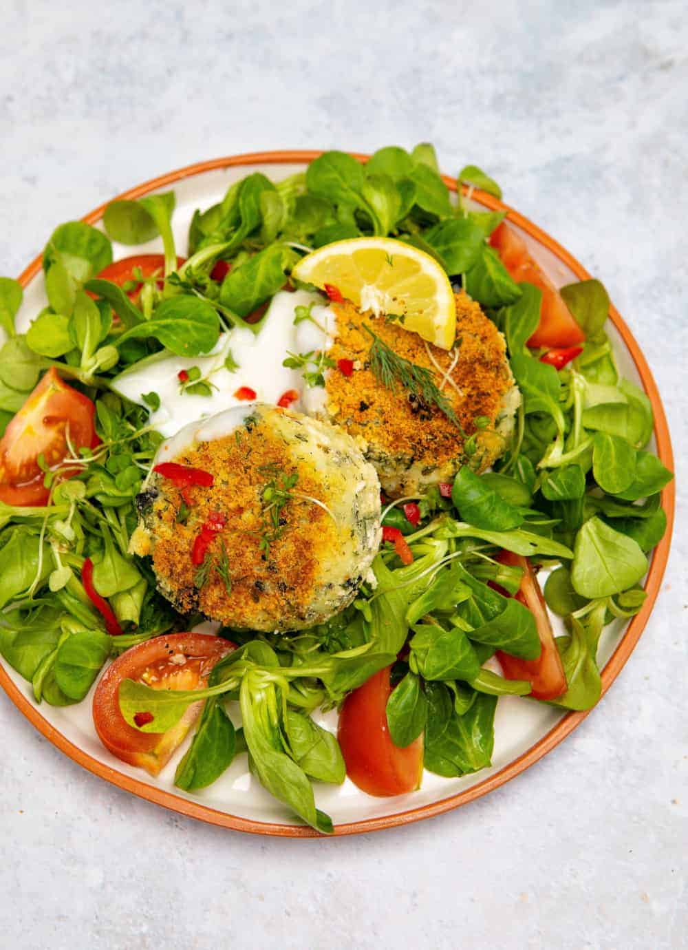 Vegan Fishcake Salad