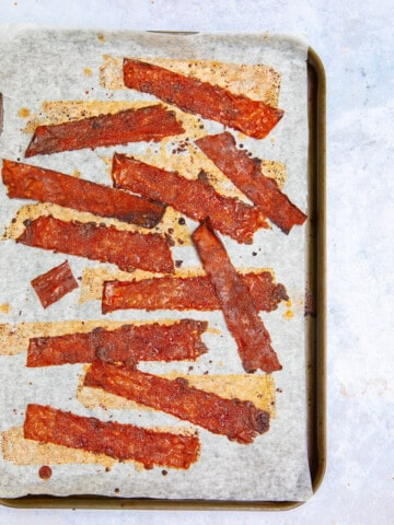 Crispy Rice Paper Bacon